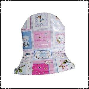 Kussen voor Prenatal Tiamo kinderstoel jet dessin / ruit roze