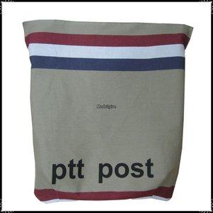 Postopvanger / Brievenbuszak PTTpost onder horizontaal/ Boerenruit zwart