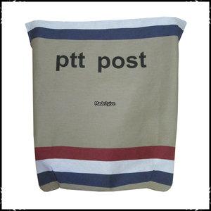 Postopvanger / Brievenbuszak PTTpost boven horizontaal/ Boerenruit zwart