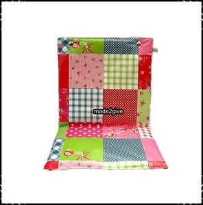 Kussen 1 persoons voor babboe patchwork deco made2give - Deco wc rood ...