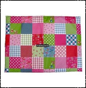 Bodemkussen voor babboe patchwork deco made2give - Deco wc rood ...