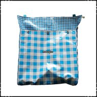 Postopvanger-Brievenbuszak-boerenruit-groot-lichtblauw--Boerenruit-blauw