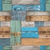 tafelzeil sloophout / steigerhout blauw