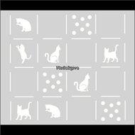 Raamfolie-Motief:-Patchwork-kittens-60cm