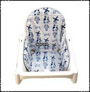 Inlay-voor-Ikea-kinderstoel-Delftsblauw-Boerenruit-donkerblauw