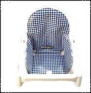 Inlay-voor-Ikea-kinderstoel-Boerenruit-donkerblauw-Delftsblauw