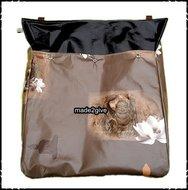 Postopvanger-Brievenbuszak--boeddha-bruin-effen-zwart