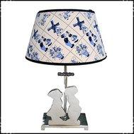 Lamp-Kussend-paartje-aluminium-Delftsblauw