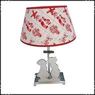 Lamp-Kussend-paartje-aluminium-Delftsrood