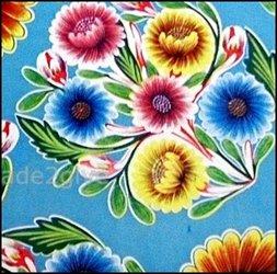 50. Floral lichtblauw