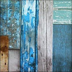 91. Steigerhout blauw / bruin /grijs