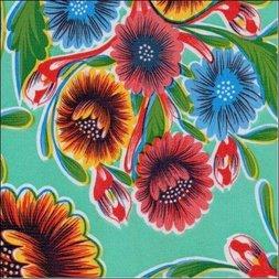 109. Floral mintgroen