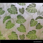 Raamfolie Tropische bladmotieven selva 92cm