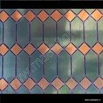Raamfolie glas in lood ruiten groen verticaal 67,5cm