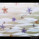 Raamfolie Bloemen en vlinders modern