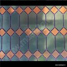 Raamfolie glas in lood ruiten groen verticaal 45cm