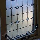 Raamfolie Glas in lood ruit verticaal 45cm