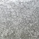 Raamfolie Tulpen grijs