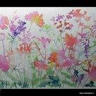 Raamfolie gekleurde bloemen 45cm x 2meter
