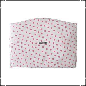 Kussen voor voetplank Stokke Tripp Trapp kinderstoel polkadot wit / roze / Boerenruit babyroze
