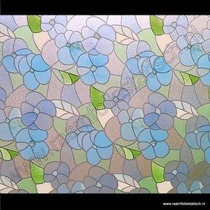 Raamfolie Bloem Blauw