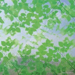 Raamfolie Groene bladmotieven 92cm