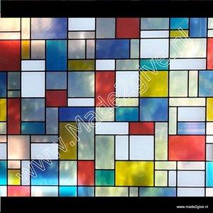 Raamfolie Mondriaan 67,5cm