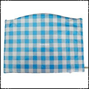 Kussen voor voetplank Stokke Tripp Trapp kinderstoel Boerenruit lichtblauw groot / ruit lichtgroen groot