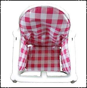 Inlay voor Ikea kinderstoel ruit roze groot / Boerenruit roze