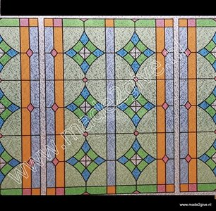 Raamfolie Glas in lood 45cm