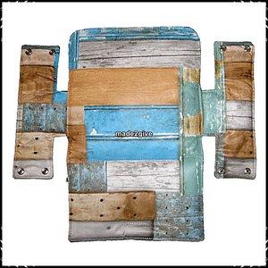 Kussen voor babyset / zitplank Stokke Steigerhout blauw  / steigerhout nieuw!