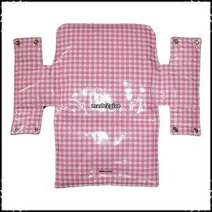 Kussen voor babyset / zitplank Stokke ruit roze / Jet dessin