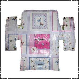 Kussen voor babyset / zitplank Stokke Jet dessin / ruitje roze nieuw