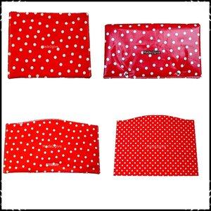 kussenset voor Stokke Tripp Trapp kinderstoel 4-delig polkadot rood / ruit rood