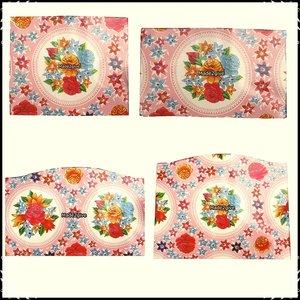 kussenset voor Stokke Tripp Trapp kinderstoel 4-delig rosario roze / polkadot roze