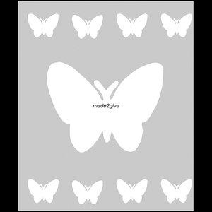 Raamfolie Motief: Vlinders 60cm
