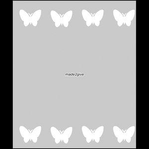 Raamfolie Motief: Vlinders Duo 60cm