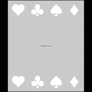 Raamfolie Motief: Speelkaarten Duo 60cm