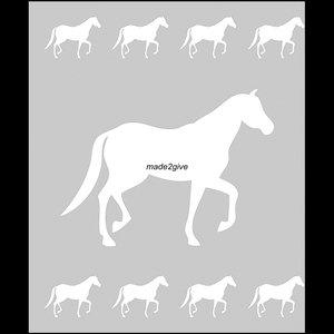 Raamfolie Motief: Paard 60cm