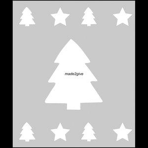 Raamfolie Motief: Kerst 60cm