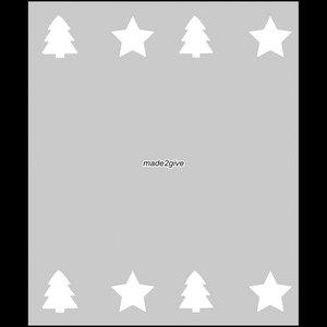 Raamfolie Motief: Kerst Duo 60cm