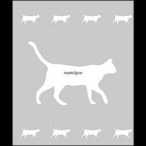 Raamfolie Motief: Kat 60cm