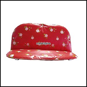 kussenset voor Babboe city Bakfiets dots & roses rood