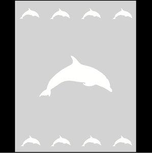 Raamfolie Motief: Dolfijn 60cm