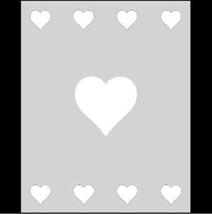 Raamfolie Motief: Hartjes 60cm