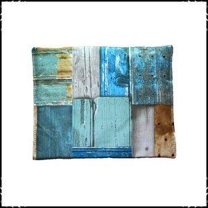 Kussen voor babyset Steigerhout blauw / steigerhout