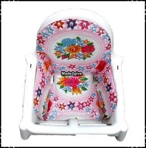 Inlay voor Ikea kinderstoel Rosaria roze / Boerenruit babyroze