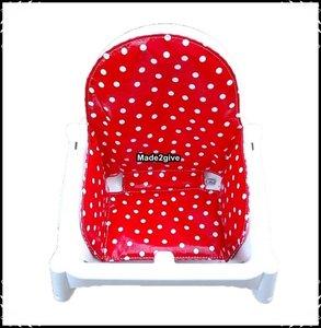 Inlay voor Ikea kinderstoel Polkadot rood / Boerenruit rood