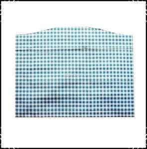 Kussen voor voetplank Stokke Tripp Trapp kinderstoel Boerenruit lichtblauw / Fortin donkerroze