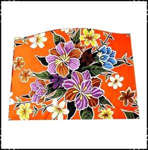 Kussen voor voetplank Stokke Tripp Trapp kinderstoel Fortin oranje / Boerenruit paars